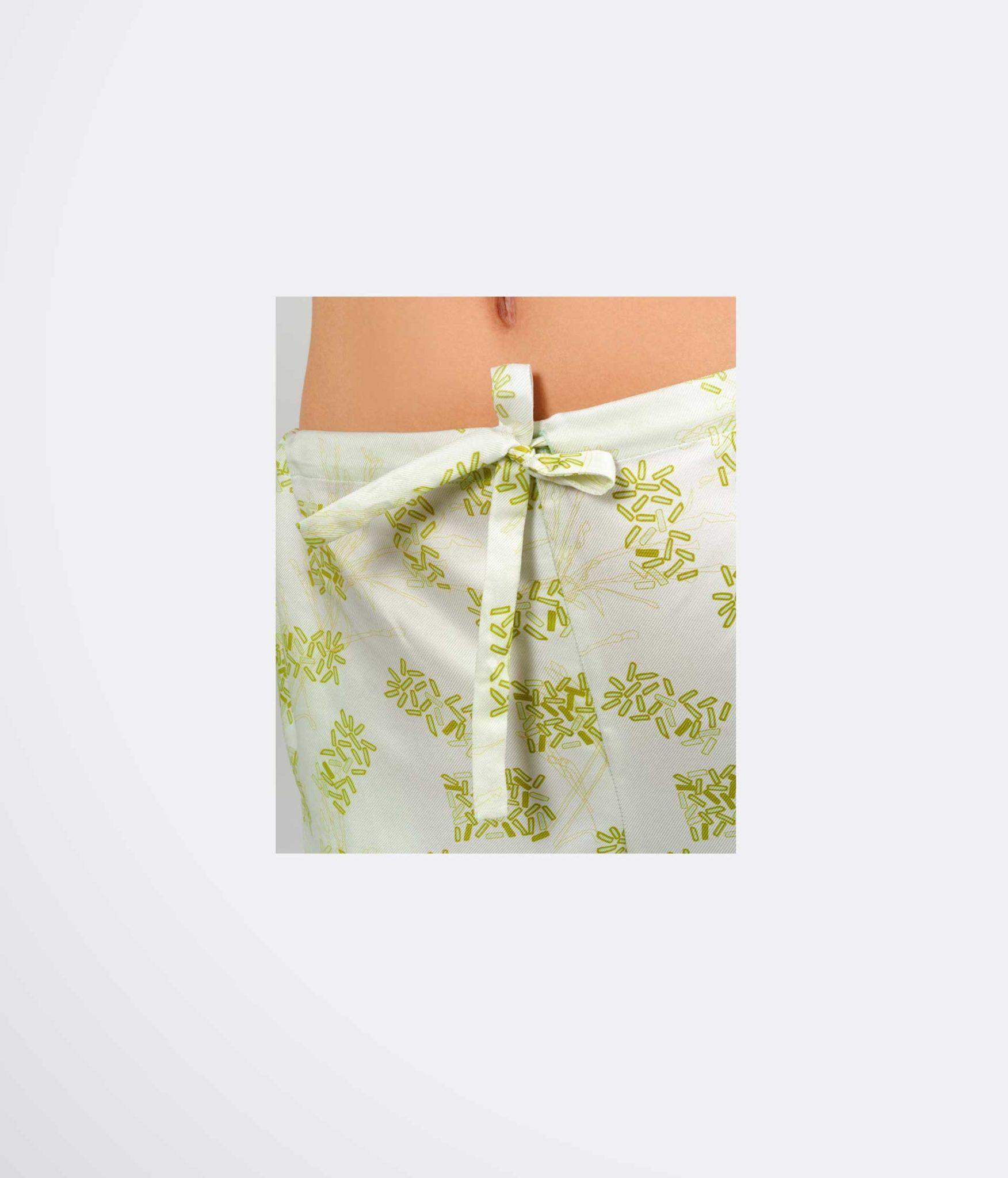 Detail de la taille du pantalon de pyjama Tulle pour patron de couture